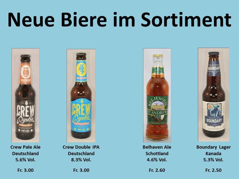Neue Biere im Sortiment
