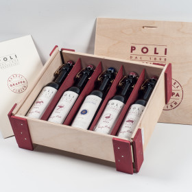 Grappa Poli Holzbox 6x20cl