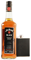 Whisky Jim Beam Black mit Flachmann
