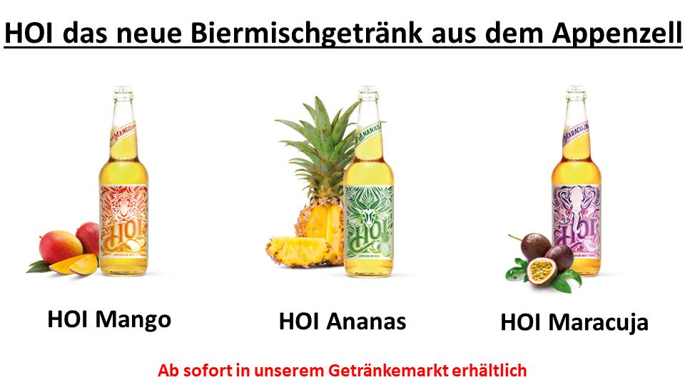 HOI: Das neue Biermischgetränke aus dem Appenzell!